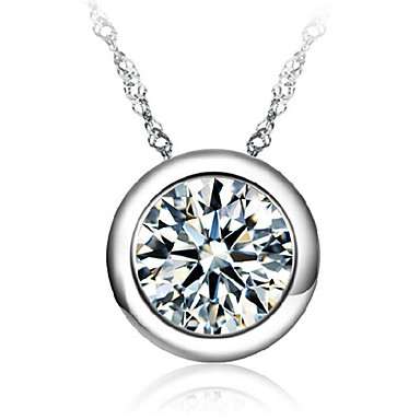 Women's Sterling Silver Pendant  -  Necklace For Wedding Party Daily
