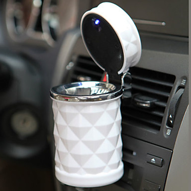Luxury Car Accessories Portable LED Car Ashtray High Quality Universal Cigarette Cylinder Holder Car Styling Mini
