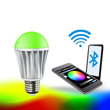 E26/E27 Okos LED izzók A60(A19) RGB 5050 5PCS,2835 10 PCS led SMD 5050 Bluetooth Tompítható Dekoratív RGB