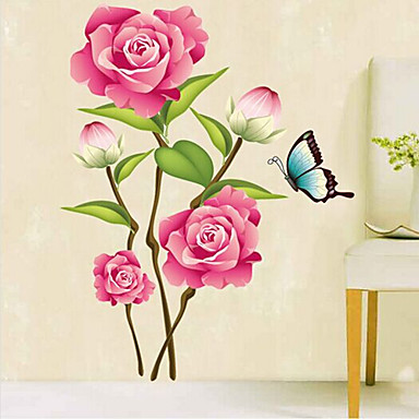 Botânico / Desenho Animado / Romance / Vida Imóvel / Paisagem / Fantasia Wall Stickers Autocolantes de Aviões para Parede , PVC 50cm*70cm