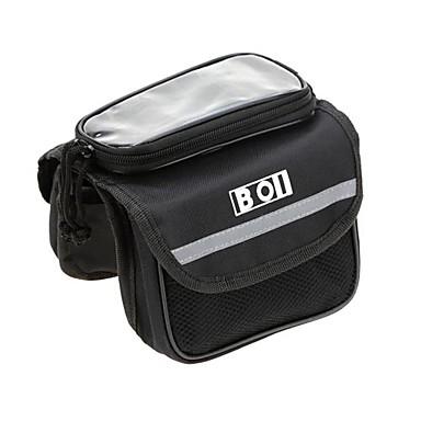 BOI Bolsa para Quadro de Bicicleta Bolsa Celular Mochila com Moldura Externa 5.7 polegada Telefone Sensível ao Toque Multifuncional