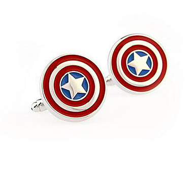 Captain America Stainless Steel Cufflinks Square Vintage Wedding  Graving Men's Groom Shirt Deluxe Christmas Gifts
