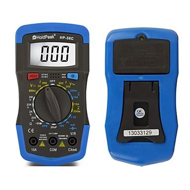 backlight multímetro digital de tensão atual resistência capacitância testador bateria hp-36c holdpeak
