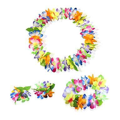 Hawaii Ünnepi ékszerek Uniszex Mindszentek napja Farsang Fesztivál / ünnepek Mindszentek napi kösztümök Rubin Bíbor Sárga Rózsa Szivárvány