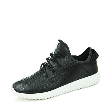 Alkalmi - Férfi cipő - Divatos teniszcipők - Bőrutánzat - Fekete / Piros / Fehér