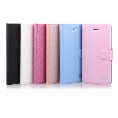 ASLING Etui Til iPhone 5 / Apple Etui iPhone 5 Kortholder / med stativ / Flipp Heldekkende etui Ensfarget Hard PU Leather til iPhone SE / 5s / iPhone 5