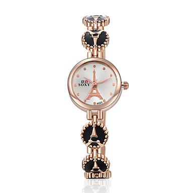 Damen Quartz Armband-Uhr Schlussverkauf Legierung Band Elegant Modisch Schwarz Weiß