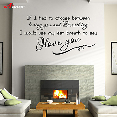 AWOO® Love  You Home  Wall Sticker DIY Home Decorations Quotes Vinyl Wall Decals Wall Mural Art