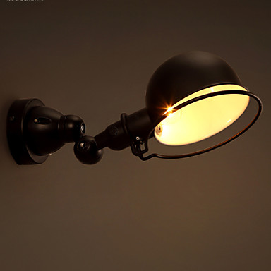 COSMOSLIGHT Rustikk / Hytte Swing Arm Lights Metall Vegglampe 220V