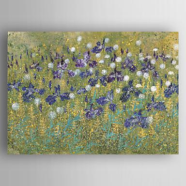 El-Boyalı Soyut / Çiçek/BotanikModern / Realizm Tek Panelli Kanvas Hang-Boyalı Yağlıboya Resim For Ev dekorasyonu