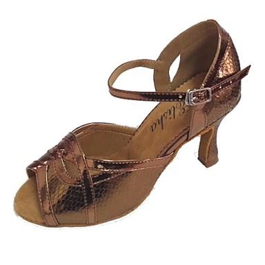 Dame Latin Stof Hæle Personligt tilpassede hæle Bronze Kan tilpasses