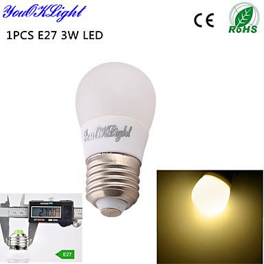 3W / 5W E26/E27 LED gömbbúrás izzók B 6 SMD 5730 260 lm Meleg fehér Dekoratív AC 220-240 / AC 110-130 V 1 db.