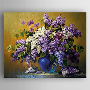 Oil Painting Flowers in the Vase Hand Painted Canvas with Stretched Framed