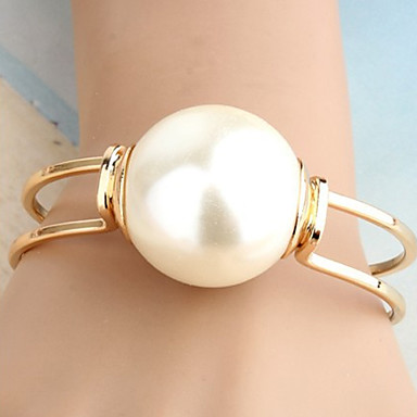 Women's Cuff Bracelet Unique Design Statement Jewelry Fashion Pearl Alloy Others Jewelry Christmas Gifts Party Daily Casual Costume