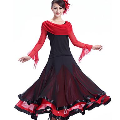 Ballroom Dance Dresses Women's Performance Crepe Milk Fiber Draping Dress