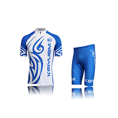 KEIYUEM Camisa com Shorts para Ciclismo Unissexo Manga Curta Moto Conjuntos de RoupasProva-de-Água Secagem Rápida A Prova de Vento