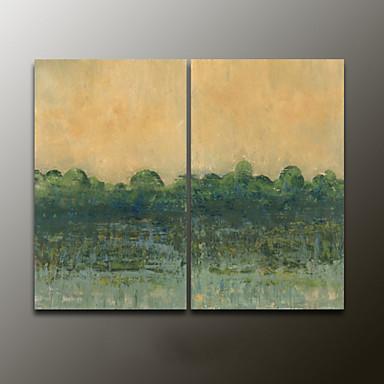 Kézzel festett AbsztraktModern Két elem Vászon Hang festett olajfestmény For lakberendezési