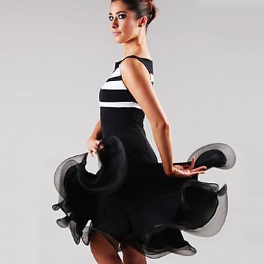Latin Dans Kjoler Dame Ytelse Spandex Drapering Kjole / Samba