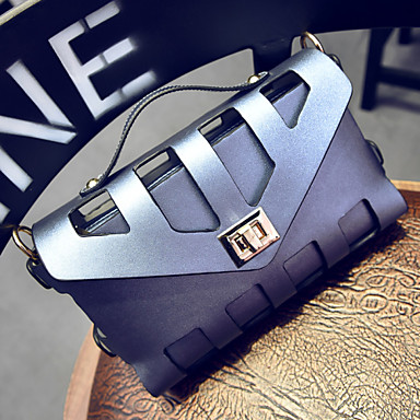 Women's Bags Other Leather Type / PU Tote / Shoulder Bag Buttons for Casual Dark Blue / Pink / Light Blue