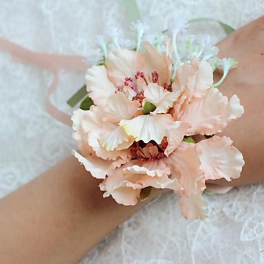 Esküvői virágok Szabadformájú Bazsarózsák Virágcsokrok csuklóra Esküvő Parti /Estélyi Poliészter