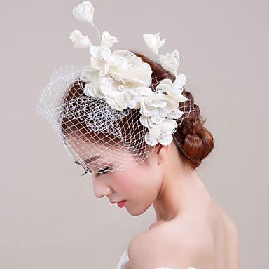 Linfrø / Imitert Perle / Blonde fascinators / blomster med 1 Bryllup / Spesiell Leilighet Hodeplagg