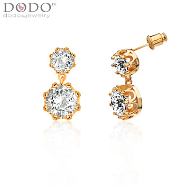 Women's Crystal Stud Earrings - Crystal Crown Birthstones For Wedding / Party / Daily