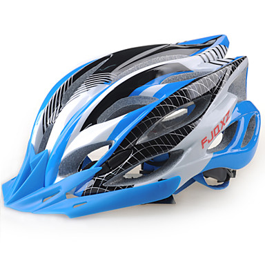 FJQXZ 어른 자전거 헬멧 22 통풍구 충격 방지, 가벼운 무게, 탈착 가능한 챙 EPS 도로 사이클링 / 레크리에이션 사이클링 / 하이킹 - 그린 / 블루 / 핑크 남성용 / 여성용