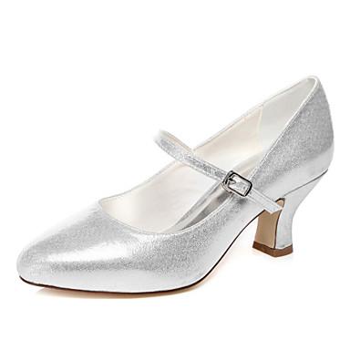 Női - Hegyes orrú - Esküvői cipők - Magassarkú - Esküvői / Ruha / Party és Estélyi - Ezüst
