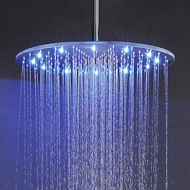 Contemporâneo Chuveiro Tipo Chuva Níquel Característica for  LED Efeito Chuva , Lavar a cabeça