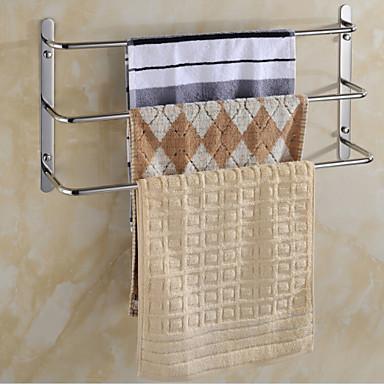 Barre porte serviette etag re de salle de bain r chauffe serviette miroir poli fixation - Fixation miroir salle de bain ...