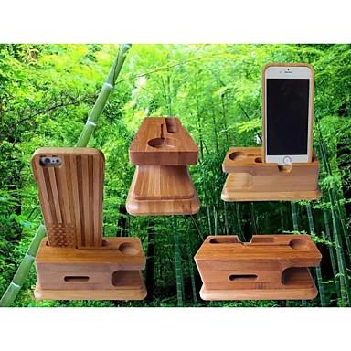 telefones móveis de bambu / apple relógios multifunções titular