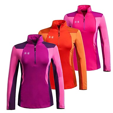 0fb7ee0d Women's Hiking T-shirt Outdoor Winter Windproof Thermal / Warm Fleece  Lining Breathable Hiking T