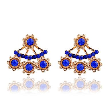 Women's Crystal Pearl Rhinestone Austria Crystal Drop Earrings - Fashion European White Blue Light Blue Earrings For