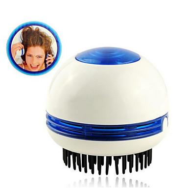 mini kerek elektromos vibrációs masszázs haj fésű elnyeli a korpásodás (2 * AA)