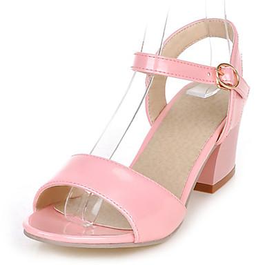 Ženske cipele - Sandale - Formalne prilike / Ležerne prilike - Umjetna koža - Kockasta potpetica -D'Orsay cipele / Cipele otvorenih