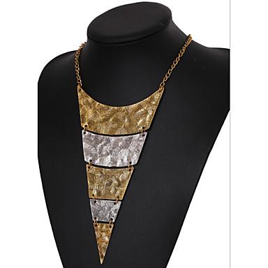 Dame Lag-på-lag / Geometrisk Uttalelse Halskjeder / lagdelte Hals - Vintage, Europeisk, Multi Layer Skjermfarge Halskjeder Til