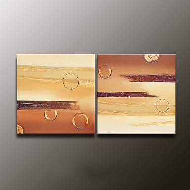 Pintados à mão AbstratoModerno 2 Painéis Tela Pintura a Óleo For Decoração para casa
