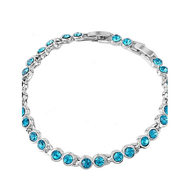 Women's Crystal Chain Bracelet - Crystal Unique Design, Fashion Bracelet Purple / Rose / Blue For Wedding / Party / Daily