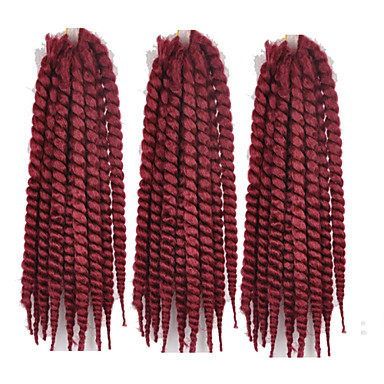 Red Havana Twist Braids Hair Extensions 22inch Kanekalon 2 Strand 120g/pcs gram Hair Braids