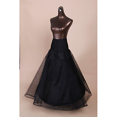 Wedding Special Occasion Slips Polyester Tulle Netting Floor-length Tea-Length A-Line Slip 53