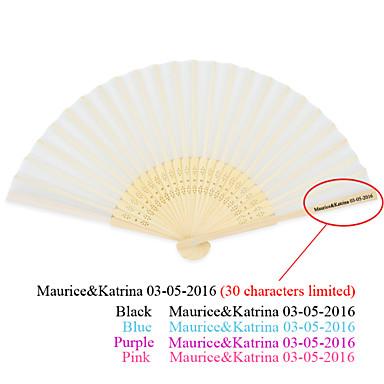 billige Vifter og parasoller-Bølge Stil Handvifte / Skallstil Håndvifte / Klassisk Håndvifte-Håndvifter-Silke-Hage Tema / Asiatisk Tema-Bambus(Rosa / Syrin / Blå /
