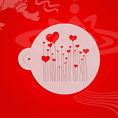Heart Pattern Cake Stencils ,Valentine Cupcake/Cookie Tops Stencil Template ,Cake Decorating Supplies Tools ST-3093