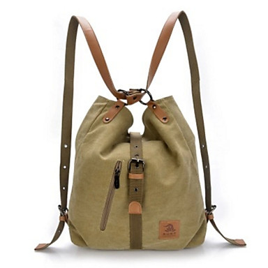 Women's Bags Canvas Backpack for Casual Outdoor All Seasons Black Coffee Red Blue Khaki