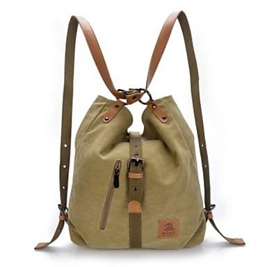 Kadın's Çantalar Kanvas sırt çantası için Günlük Dış mekan Tüm Mevsimler Siyah Kahve Kırmzı Mavi Haki