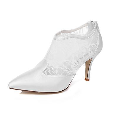 Topuklular - Düğün / Elbise / Parti ve Gece - Topuklu / Sivri Burun - Beyaz - Kadın - Düğün Ayakkabı