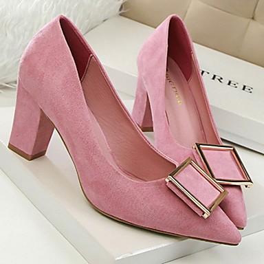 Marrón Cuadrado Rosa Tacón Verano Zapatos Mujer Primavera Vestido 04803396 Terciopelo Rojo xqPwSaRXYR
