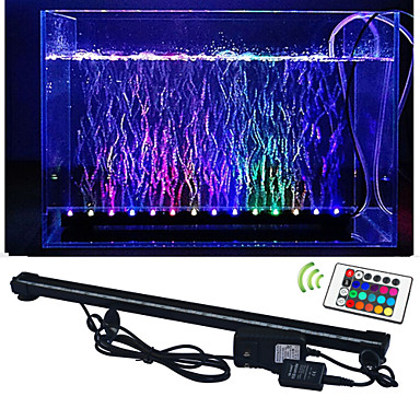 lm LED Aquarium Lights 50 leds SMD 5050 Waterproof Decorative Remote-Controlled RGB AC 100-240V