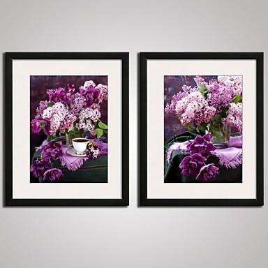 Cvjetni / Botanički Mrtva priroda Odmor Sažetak Uokvireni print Uokvireno platno Uokvireni set Wall Art,PVC Materijal s Frame For Početna