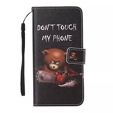 מגן עבור Apple iPhone X iPhone 8 iPhone 8 Plus מגן אייפון5 מחזיק כרטיסים ארנק עם מעמד נפתח-נסגר תבנית כיסוי מלא חיה קשיח עור PU ל iPhone