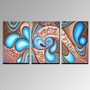 Maalattu Abstrakti Horizontal, Moderni Kangas Hang-Painted öljymaalaus Kodinsisustus 3 paneeli